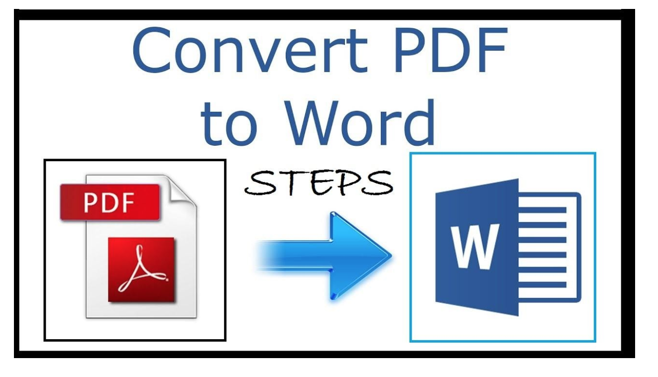 PDF to Word Converting Steps